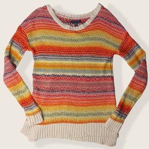 🌼3/$30 AE Multicoloured Striped Knit Top XS